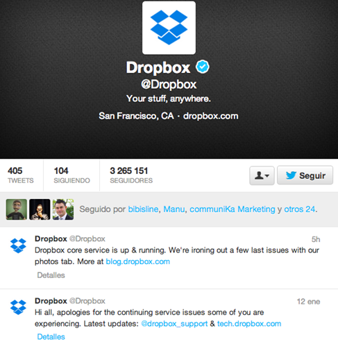 Dropbox-Twitter