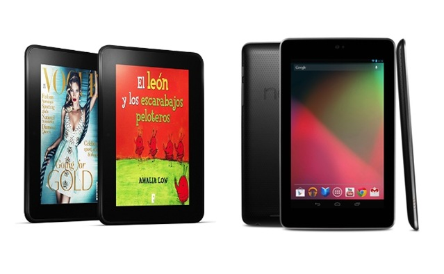 Kindle Fire frente a Nexus 7